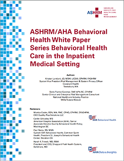 Behavioral Health White Paper Pt 3 Cover